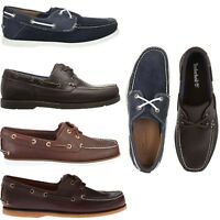 Timberland Mens Classic 2 Eye Boat Shoes Casual Slip On Leather Loafers NEW