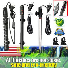 Fully Submersible Aquarium Heater Explosion-Proof Auto Thermostat Adjustable USA