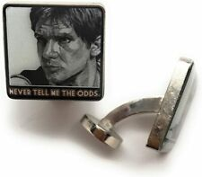 Mens Executive Cufflinks Hans Solo Never Tell Me the Odds Star Wars Cuff Links