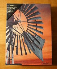 Country Primitive Amish Windmill Kitchen Farm House Canvas Light Home Decor Sign