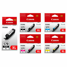 Genuine Canon PGI570XL / CLI571XL Set of 5 Black & Colour Inks For Pixma MG5700