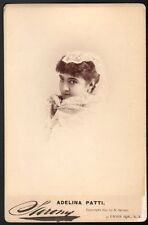 Adelina Patti Nicolini. Photographe Sarony. Vers 1880. Opéra. cantatrice