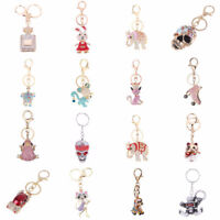 Crystal Rhinestone Keyring Keychain Pendant Bag Handbag Purse Key Chain Jewelry
