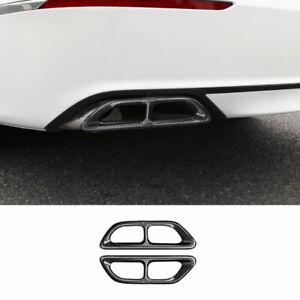 Carbon Fiber Rear Tail Exhaust Muffler Tip Pipe For Honda Accord 10th 2018-2021