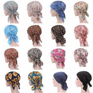 Womens Cancer Hat Chemo Cap Muslim Hair Loss Head Scarf Turban Head Wrap Cover**