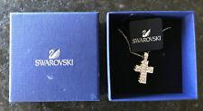 Swarovski Diamond Crystal Cross Pendant White Gold-Tone Plated Crucifix Vf inBox