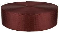2 Inch Seat-Belt Brick Red Polyester Webbing Closeout, 20 Yards