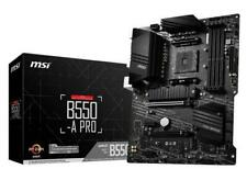 MSI B550-A PRO Motherboard AMD Socket AM4 AMD B550 Chipset ATX Form Factor