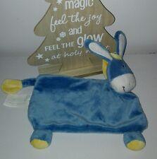 Doudou plat cheval ane bleu jaune Kimbaloo etat neuf