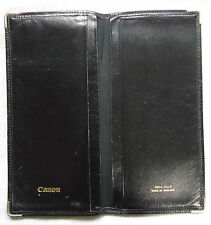 VINTAGE + CANNON + BLACK REAL CALF LEATHER BI FOLD WALLET 1960s 1970s MOD