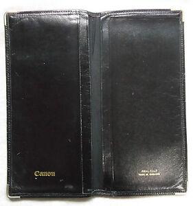 Wallet Vintage Leather CANNON BLACK BI FOLD 1960s 1970s