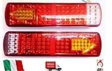 COPPIA 24V LED LUCI FANALI POSTERIORI CAMION RIMORCHIO AUTOCARRO DAF SCANIA MAN