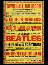 "Beatles Abergavenny 16"" x 12"" Photo Repro Concert Poster"