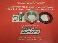 42-4343 BSA  A10 A7 A65 A50  SWINGING ARM SPINDLE NUTS & WASHER KIT 67-8313