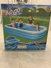 Bestway H2O Go! 10ft x 6ft x 22in Rectangular Inflatable Pool In Hand Fast Ship