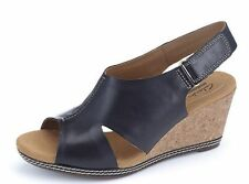 Clarks Wedge 100% Leather Wide (E) Shoes for Women