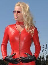 Leder Catsuit Overall Ledercatsuit Rot Maßanfertigung