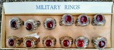 "Us Marine Corp 1960/70's ""Red Glass� Viet Nam War Era ""Nos� Rings"
