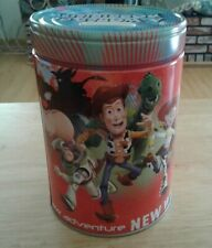 Walt Disney's Toy Story Large Round Illustrated Tin Coin Bank Adventure New