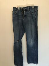 Hollister Girls Jeans 30w 32L Flawless Button Up