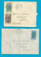 Oubangi Chari two covers 1929, postmarks: Fort Archambault, Bangui, Behagle