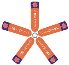 Ceiling Fan Blade FABRIC Covers CLEMSON UNIVERSITY  home/dorm decor 5 pc TIGERS