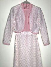 Vintage 70s Haypence Sleeveless Long Dress Jacket 6 Pink 2 Piece Zipper Back