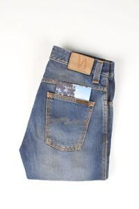 32215 Nudie Jeans Slim Jim Org. Indigo Mood Bleu Hommes Jean Taille 30/32