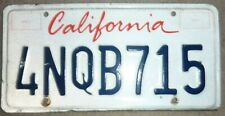 "USA California  car ""Lipstic"" number plate 4NQB715"