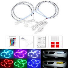 For BMW E46 RGB Multi-Color LED Angel Eye Halo Ring Light Headlight 131MM+146MM