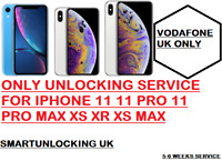 (BLACKLIST SUPPORTED) VODAFONE UK UNLOCKING SERVICE ONLY FOR IPHONE XS XR