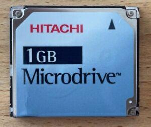 HITACHI 1GB CF Microdrive Type II Compact Flash Card Speicherkarte DSCM -11000