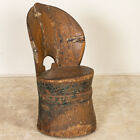 Antique Norwegian Small Kubbestol, Child's Chair