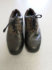 """Footjoy """"Contour"""" dark brown and black leather golf shoes, Men's 9 wide"""