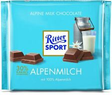 8 x RITTER SPORT ALPENMILCH CHOCOLATE - CANDY FROM GERMANY - RITTERSPORT