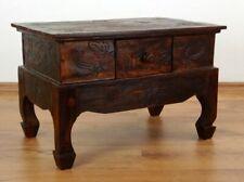 Opiumtisch mit Schublade, Couchtisch, Sofatisch, Nachttisch