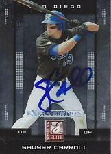 Sawyer Carroll San Diego Padres 2008 Donruss Elite Signed Card