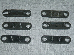 LEGO TECHNIC 4x1 Plate Steering Rack Toothed BLACK