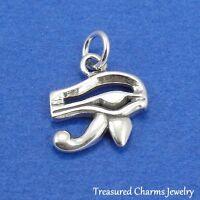 .925 Sterling Silver EYE OF HORUS/RA CHARM Egyptian Symbol of Protection PENDANT