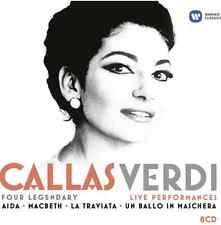 Callas, Verdi: Four Legendary Live Performances (2013) 8 CD SET - NEW + SEALED