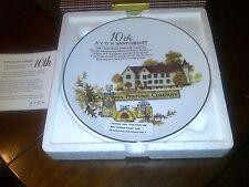 2009 10th Avon Anniversary Plate Ex Condition 22 K Gold Rim