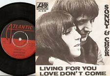 SONNY AND CHER LIVING FOR YOU & LOVE DON`T COME SWEDISH 45+PS 1966 MOD BEAT SOUL