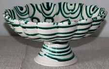Gmundner Keramik Schüssel auf Sockel,grüngeflammt, gebraucht