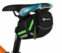 Nylon Rear Road Bike Tail Bag Black Saddle Cycling Bag Bicycle Outdoor Rainproof