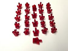 LEGO LOT OF 25 NEW TRANSPARENT RED 5 POINT CRYSTALS JEMS JEWELS PARTS