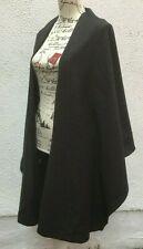 New Ladies Cape Grey 42 Wool 14 Coat 3 Shawl Open Johan C Brun Chacoal Overcoat