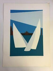 Franco Costa - Scheveningen 1999 - Sail -  Silkscreen - Signed - Number 162/250