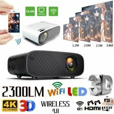 Tragbar 1080P WIFI Projektor Bluetooth LED 3D Heimkino Beamer Multimedia DHL