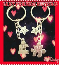 BEST FRIENDS KEYRING♡TWO GIFTS ♡FREEPOST&GIFTBAG♡Birthday Gift CHARMS♡BFF Gift