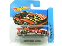 Hotwheels Custom 12 Ford Mustang 18/250 HW City Short Card 1 64 Scale Sealed